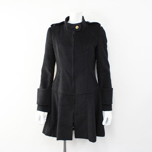 Lois CRAYON ロイスクレヨン 2010年 受注 ウールメルトンハイネックロングコート M/ブラック黒【2400012411432】