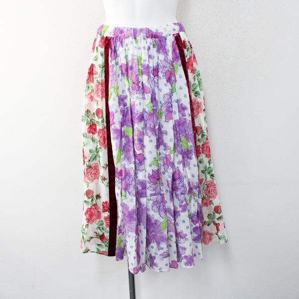 美品 2019SS Jane Marple Dans Le Salon ジェーンマープル ドンルサロン Water flower Climbing rose スカートM/パープル【2400012413986】