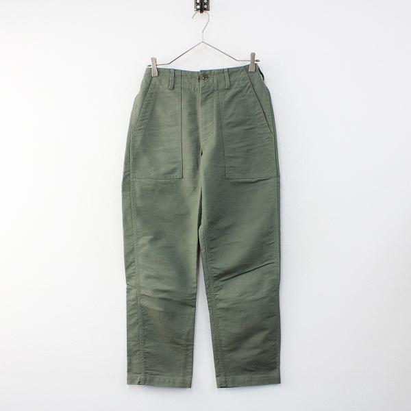Engineered Garments エンジニアードガーメンツ コットンベイカーパンツ28/グリーン ミリタリーボトムス【2400012416215】