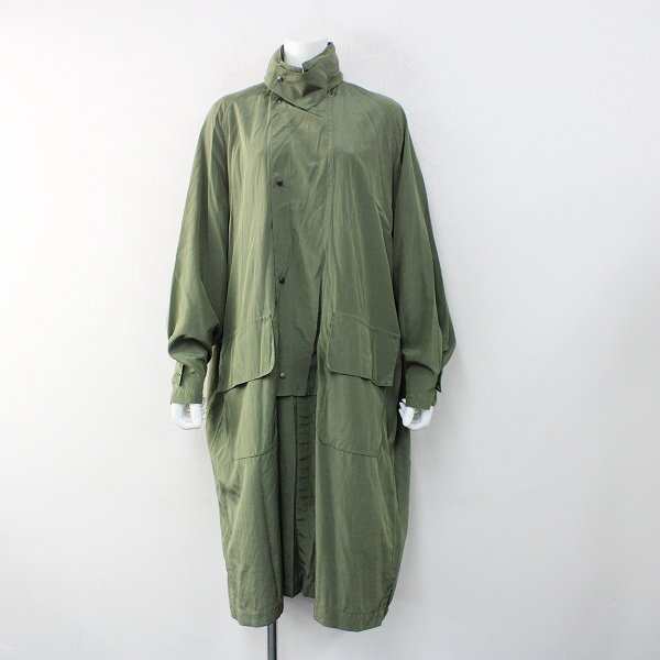 美品 2019SS KAPTAIN SUNSHINE キャプテンサンシャイン Bushman Coat ブッシュマンコート 36/グリーン【2400012416239】