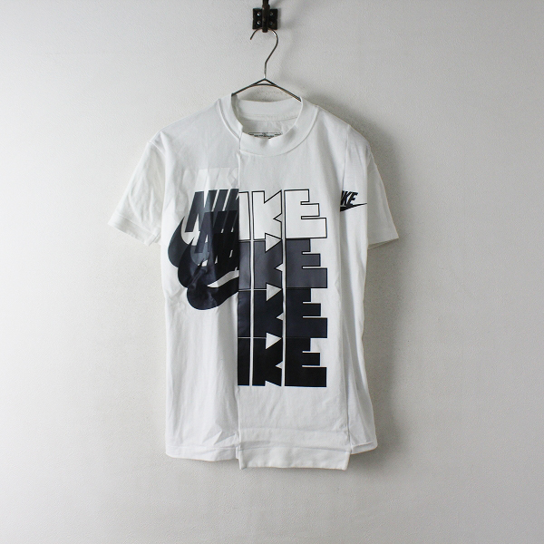 NIKE × sacai ナイキ サカイ CD6310 Hybrid T-Shirt パッチワーク Tシャツ XXS/ホワイト トップス【2400012425620】