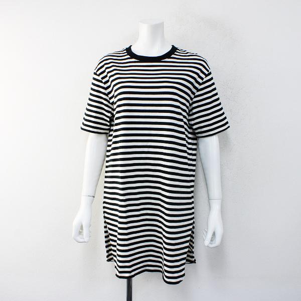 2017 Lois CRAYON ロイスクレヨン コットン ボーダー Tシャツ M/ブラック×ホワイト トップス【2400012428607】