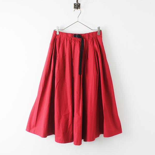 2018SS marble SUD マーブルシュッド TYPEWRITER CLOTH WAVING BELL SKIRT ウェービングベルスカート/レッド赤【2400012430914】
