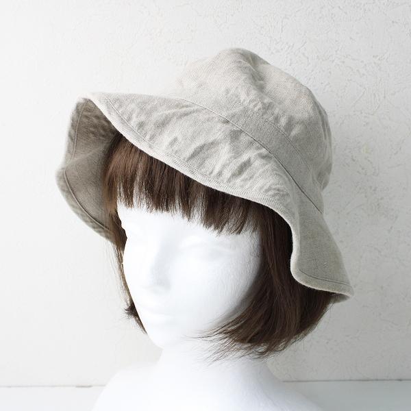 2018SS evam eva vie エヴァムエヴァ リネンハット /ベージュ ツバ広 帽子 ナチュラル【2400012432987】