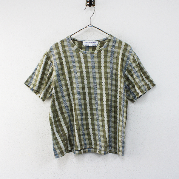 COMME des GARCONS SHIRT コムデギャルソン シャツ 総柄プリント Tシャツ S/カーキ【2400012448438】