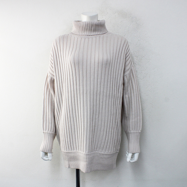 新品 未使用 2018AW IENA イエナ Chere CODE BIG タートルネックプルオーバー F/生成りセーター【2400012449107】
