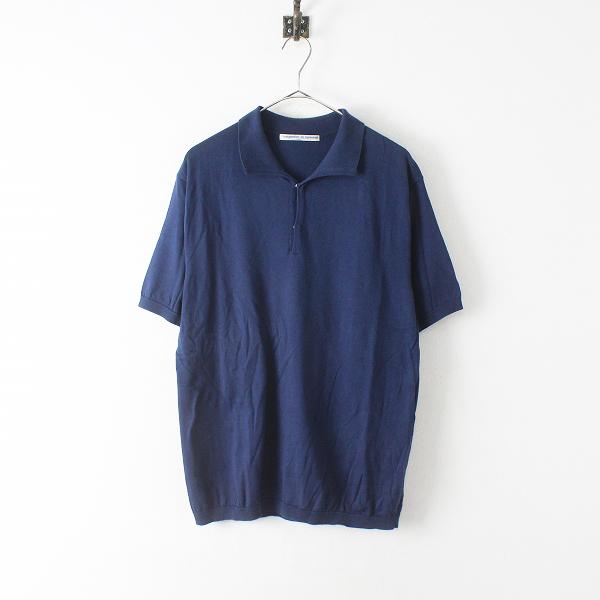 Charpentier de Vaisseau シャルパンティエドゥヴェッソ ニット ポロシャツ 2/ネイビー 男女兼用【2400012451124】