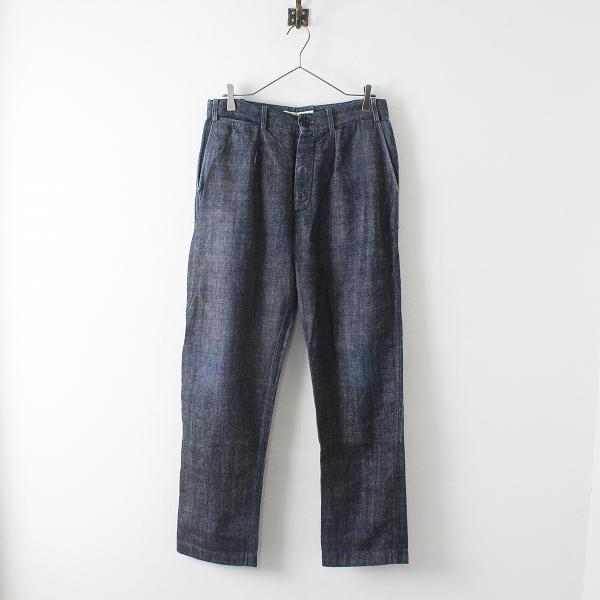 STYLE CRAFT wardrobe スタイルクラフト ワードローブ コットンリネン デニムパンツ 1/インディゴ ネイビー メンズ【2400012451230】