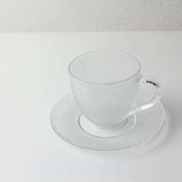 renault ルノー ガラス カップ&ソーサー/クリア 食器【2400012452138】