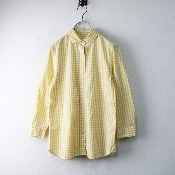 LA MARINE FRANCAISE マリンフランセーズ コットン ギンガムチェックシャツ 1/イエロートップス【2400012453241】