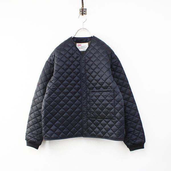 Traditional Weatherwear トラディショナルウェザーウェア ENFIELD ノーカラーキルティングジャケット38/ブラック系【2400012454019】