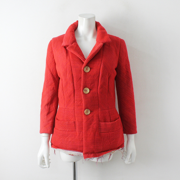 JUNYA WATANABE ジュンヤワタナベ COMME des GARCONS 中綿入り シングルジャケット/レッド赤【2400012454149】