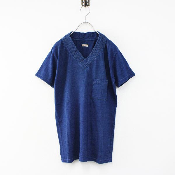 KAPITAL キャピタル IDG染め ポケットカットソー 1/インディゴ Tシャツ 刺し子【2400012460676】