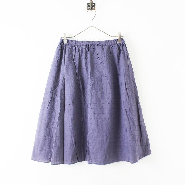未使用品 美品 Samansa Mos2 サマンサモスモス 生地レース刺繍 フレアスカート M/ネイビー ボトムス【2400012461727】