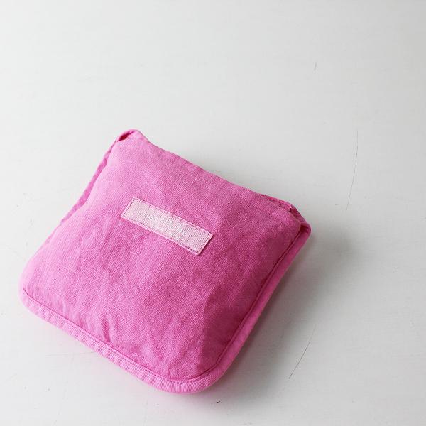 美品 2021SS nest Robe ネストローブ 01211-1166 リネンパッカブルエコバッグ M/ピンク 麻【2400012461758】