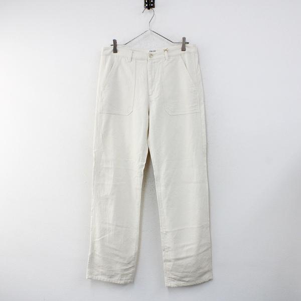 メンズ evam eva エヴァムエヴァ cotton silk work pants コットン シルク ワークパンツ mens/キナリ【2400012464322】