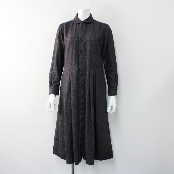 MORIKAGE SHIRT KYOTO モリカゲシャツ キョウト コットン ウール シャツワンピース S/チャコール【2400012464902】