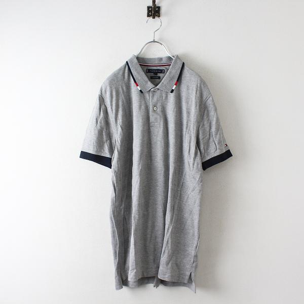 TOMMY HILFIGER トミーヒルフィガー レギュラーフィット ポロシャツ L/グレー メンズ【2400012468009】