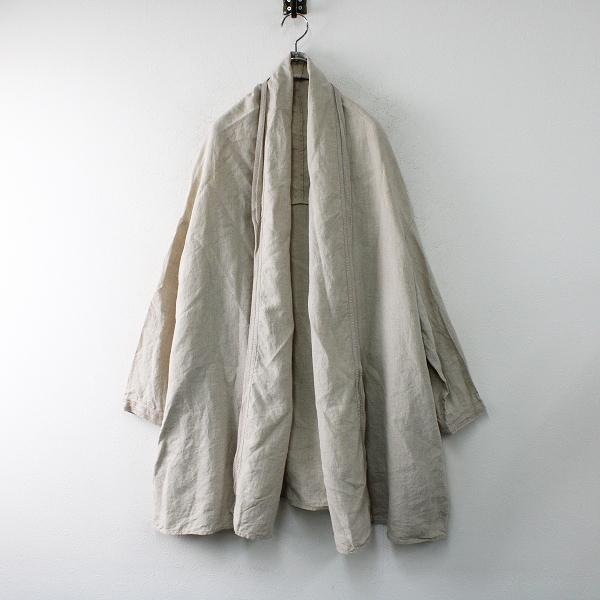 2017AW nest Robe ネストローブ リネン パイピング ローブ コート F/キナリ 羽織り【2400012470033】