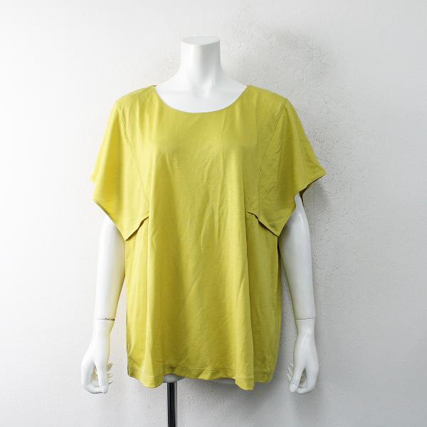 美品 2021SS 大きいサイズ オンワード樫山 iCB アイシービー Fully カットソー XL/イエロー系 Tシャツ 【2400012471405】
