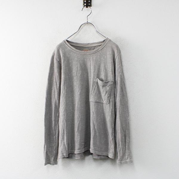 KAPITAL キャピタル コットン 胸ポケットTシャツ0/グレー【2400012473690】