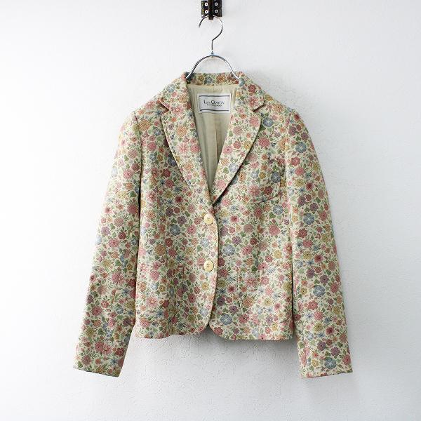 Lois CRAYON ロイスクレヨン フラワーゴブラン織り ジャケット M/ベージュピンク ハオリ 羽織り【2400012475250】