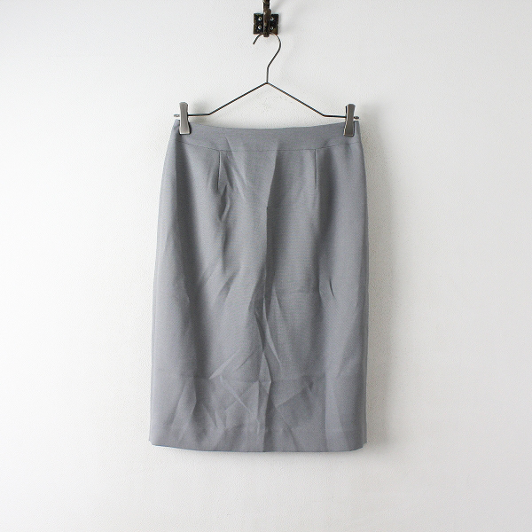美品 COUP DE CHANCE クードシャンス 洗える トリクシオン タイトスカート 38/グレー【2400012477896】