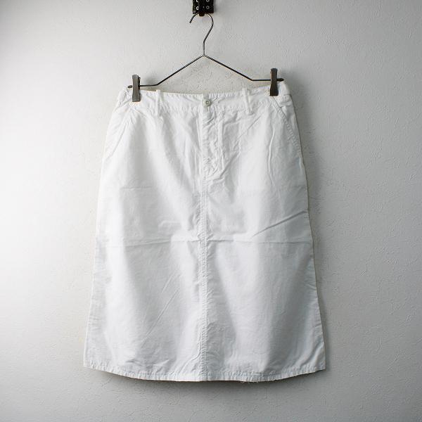 新品 未使用品 n100 エヌワンハンドレッド コットンポプリンアーミースカート 34/ホワイト シロ ボトムス【2400012480063】