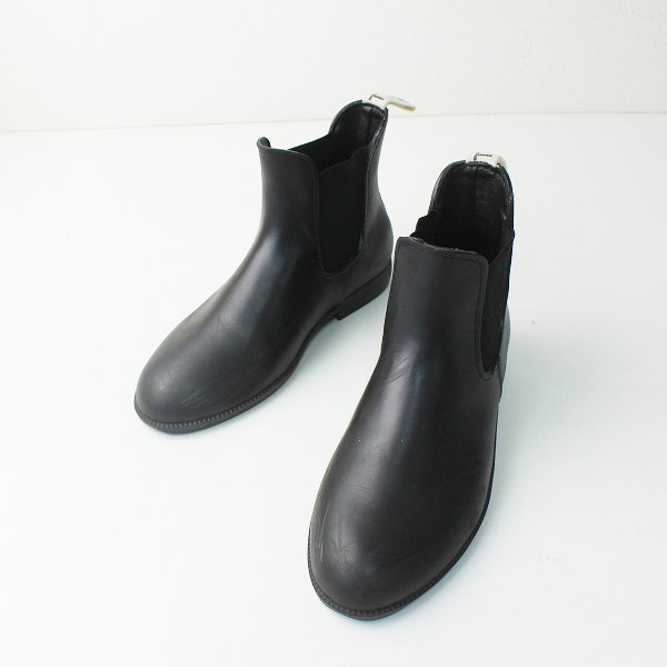 Traditional Weatherwear トラディショナル ウェザーウェア サイドゴアレインブーツ 36/ブラック クロ【2400012480193】