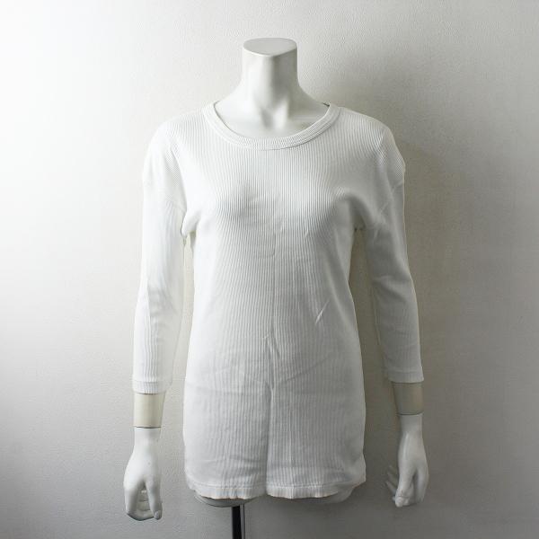 2020SS Deuxieme Classe ドゥーズィエムクラス RIB Tシャツ /ホワイト トップス【2400012480216】-.