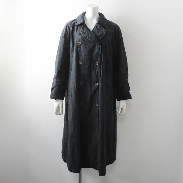nest Robe ネストローブ コットン 製品加工 ステンカラーコート/ブラック アウター【2400012480766】