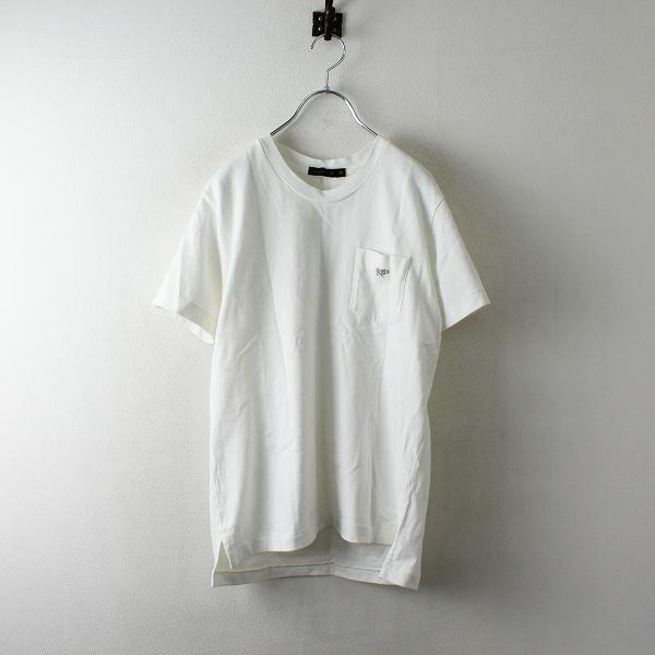 SCYE BASICS サイベーシックス コットン ポケットTシャツ 38/ホワイト サイ刺繍【2400012485532】