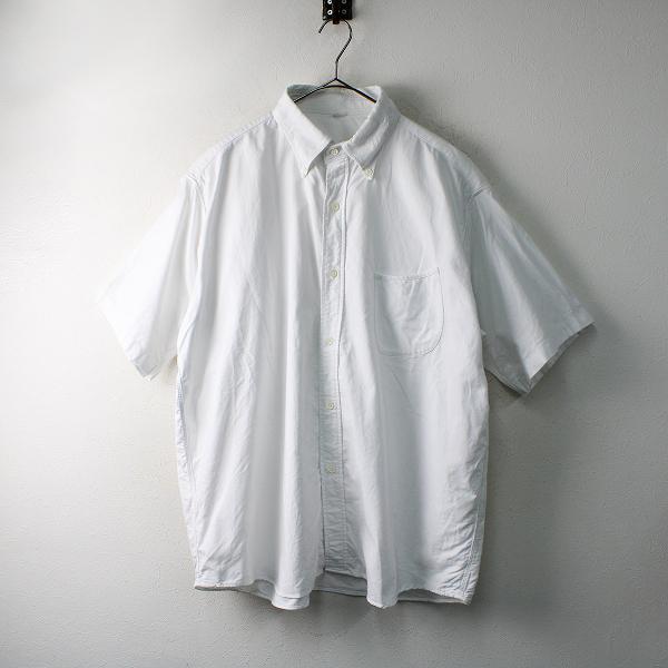 メンズ 45R フォーティーファイブアール オックスフォードの刺繍シャツ 5/ホワイト トップス 45rpm【2400012488915】