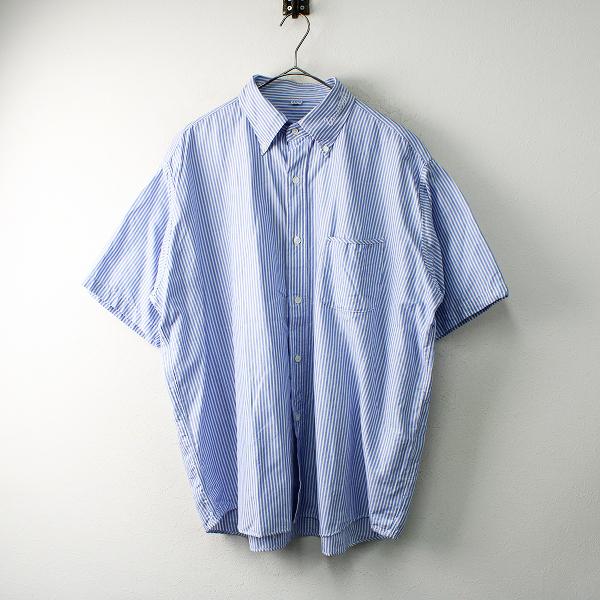メンズ 45R フォーティーファイブアール オックスフォードの刺繍シャツ 5/ブルー トップス 45rpm【2400012488922】