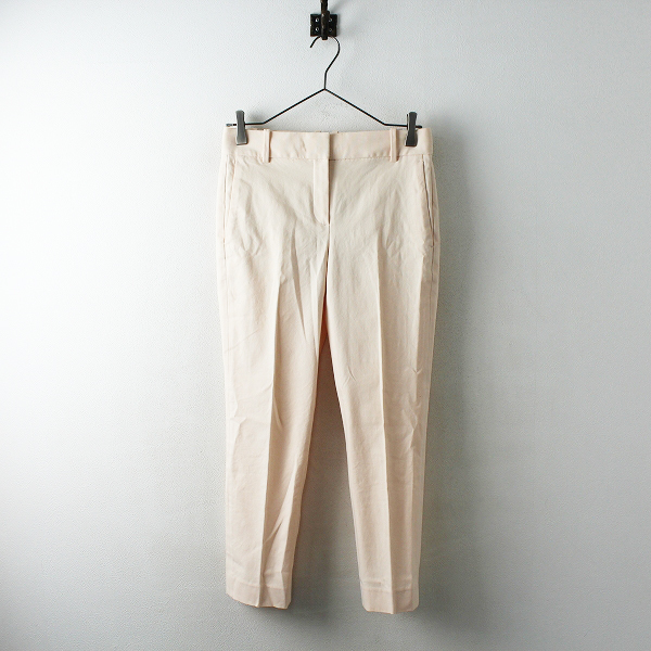 2018AW Theory セオリー STRETCH CANVAS STRAIGHT TROUSER パンツ 0/ピンク ボトムス【2400012490000】