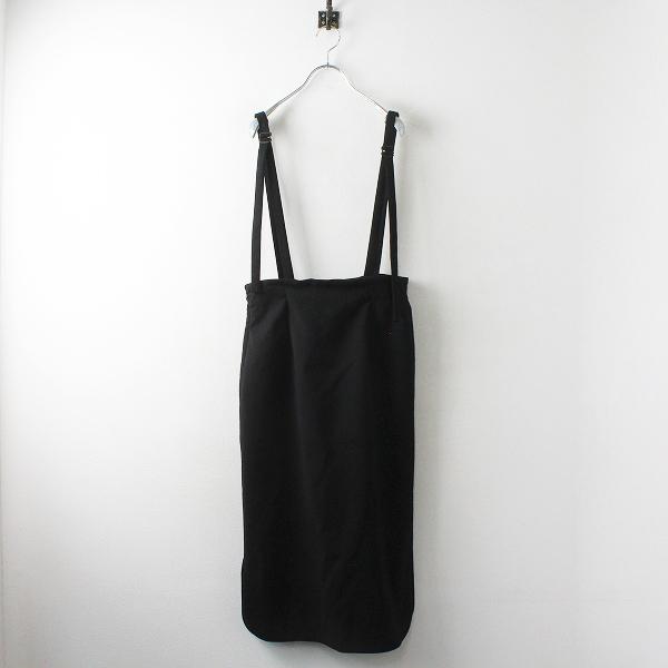 美品 Lois CRAYON ロイスクレヨン 吊り スカート M/ブラック スリット ボトムス【2400012491731】