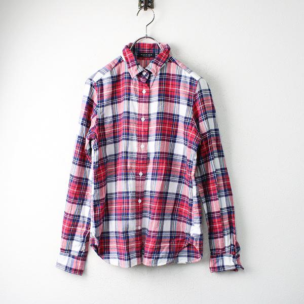 TOMORROWLAND MACPHEE トゥモローランド マカフィー コットンフランネル チェックシャツ 38/レッド【2400012493681】