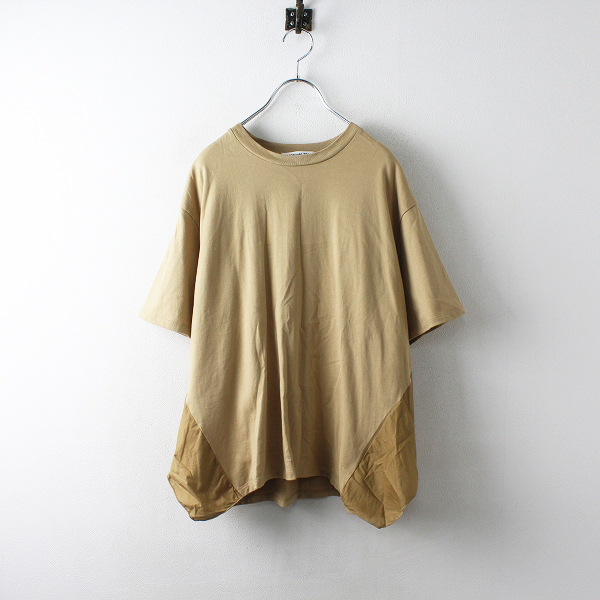 美品 MARECHAL TERRE マルシャルテル バックフリルTシャツ 2/ベージュ トップス カットソー【2400012495708】