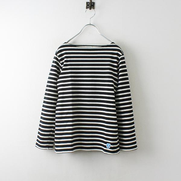ORCIVAL オーシバル ボーダーボートネック バスクシャツ 1/ブラック キナリ【2400012495913】