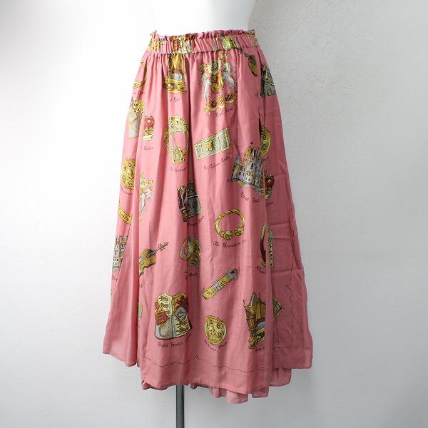 美品 2020SS 定価4.3万 Jane Marple ジェーンマープル Scottish scarf gored skirt M/ピンク スカート【2400012496897】