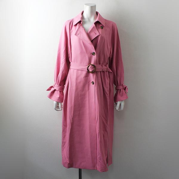 未使用品 定価3.7万 Rose Tiara ローズティアラ シングル トレンチコート 38/ピンク アウター【2400012497610】
