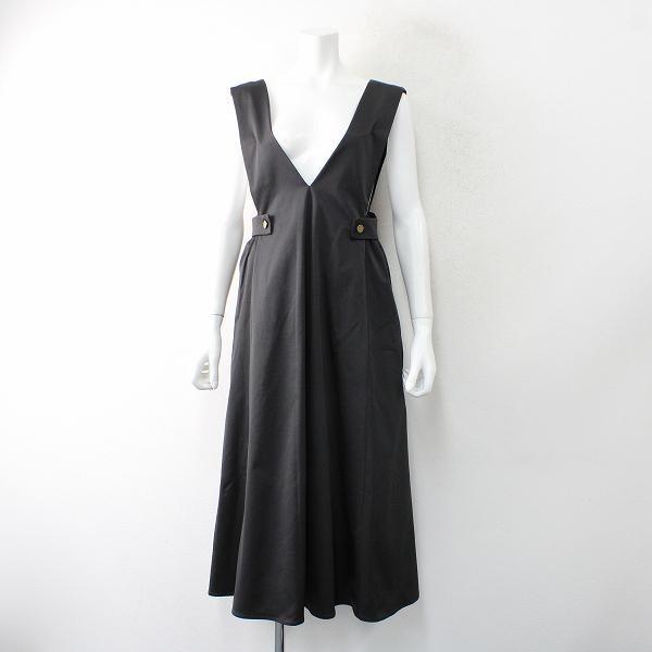 BIRTHDAY BASH バースデーバッシュ グログランサロペットスカートM/ブラック ジャンパースカート【2400012499591】