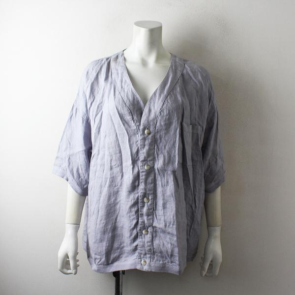 2018SS maillot マイヨ MAS-17215 Linen S/S Cardigan Shirt-Tee リネンショートスリーブカーディガンシャツTee2【2400012500051】