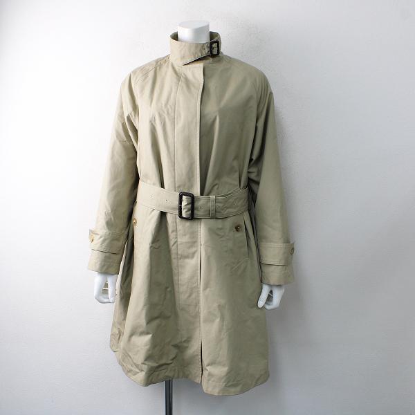 未使用 美品 2021SS MARGARET HOWELL マーガレットハウエル フランネルライナー付き シングルコート0/STONE【2400012501096】