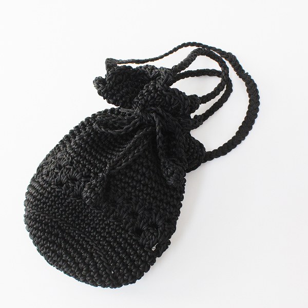 Bilitis dix-sept ans ビリティスディセッタン Crochet bag 編み カゴ バッグ /ブラック ハンド【2400012501232】