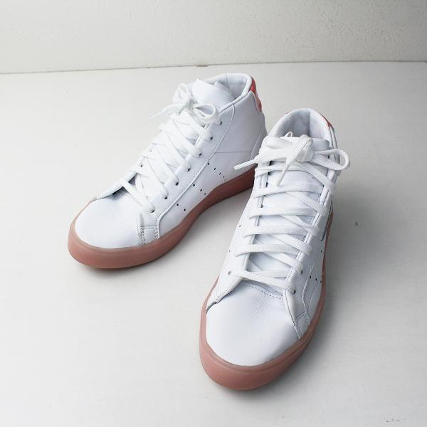 adidas sleek アディダス スニーカー 23.0cm/ ホワイト ピンク シューズ【2400012501690】