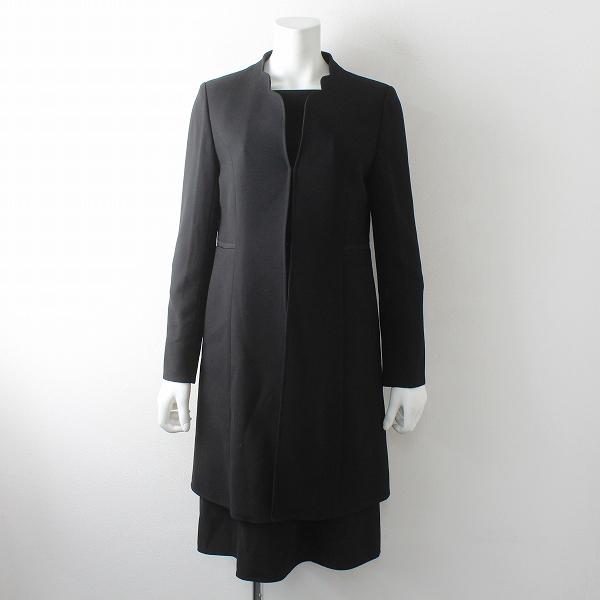 未使用品 TOKYO SOIR 東京ソワール フォーマル ワンピースセットアップ 7/ブラック コート 冠婚葬祭 スーツ【2400012502697】