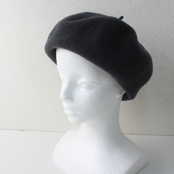 Kopca コプカ ウール ロールアップ ベレー帽 /グレー ドイツ製 小物【2400012503564】