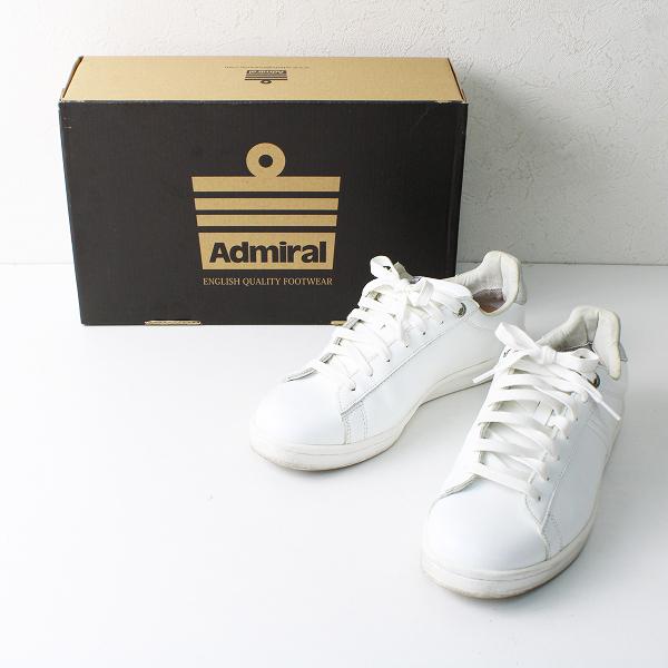 Admiral アドミラル ローカット スニーカー 24.0cm/ ホワイト シューズ【2400012505445】