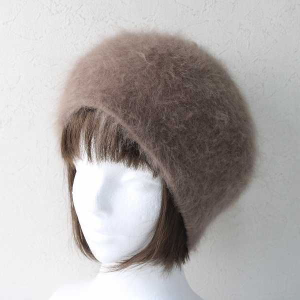 CA4LA カシラ アンゴラウールブレンド 帽子/モカ ブラウン【2400012506657】